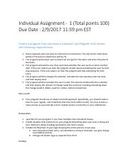 Individual Assignment 1