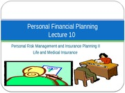 Lecture 10 - Life Insurance