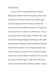Hamlet Scene 4 Evaluation