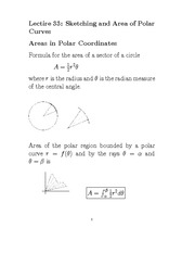 L33 Sketching and Area of Polar Curves I