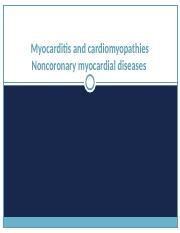 07. Myocarditis and cardiomyopathies Noncoronary myocardial diseases.ppt