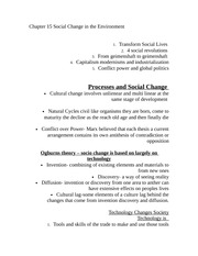 Chapter 15 Social Change in the Environment