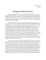 Religion to Reason.docx