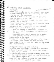 media fast journal assignment