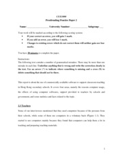 Proofreading Practice 2