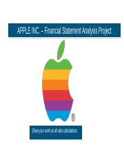 Financial Statement Analysis_Apple_Fall16