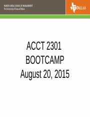 ACCT 2301 Bootcamp- final slides June 2016.ppt