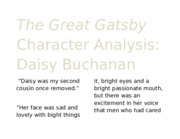 The Great Gatsby Character Analysis