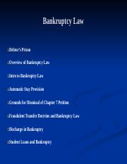 Bankruptcy Law - BUL 3310.ppt