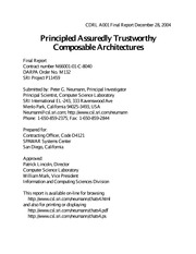 PrincipledAssuredlyTrustworthyComposableArchitectures 2004