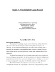 Team 7: Preliminary Project Report