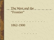 The West and the Frontier