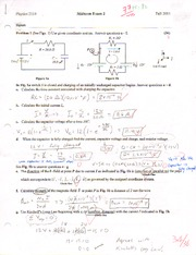 PHYS 2114 Exam 2 Fall 2011