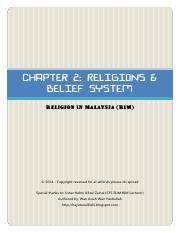 [RIM] Chapter 2 - Religions & Belief System