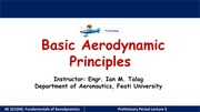 Fundamental Aerodynamics Prelim Lecture 5