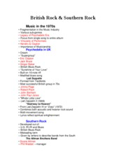 History of Rock Final study guide