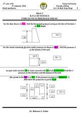 Sheet3 fluid statics