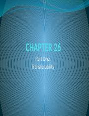CHAPTER 26 Part 1 Transferability HIDC
