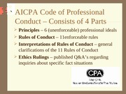 Chapter #19, Code of Conduct