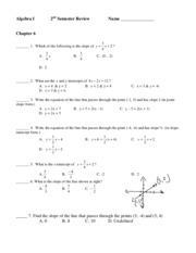 Algebra I 2nd Semester Review _2010 - Copy