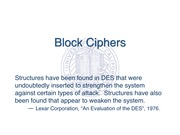 Block Ciphers