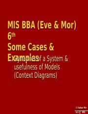 MIS BBA(Eve) & BBA (Morn) 6th Complementary Cases for context diagram.ppt