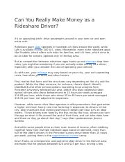 Can You Really Make Money as a Rideshare Driver.docx
