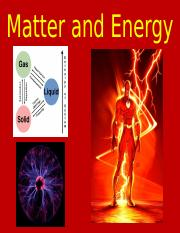 03 Matter and Energy Notes