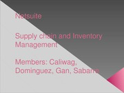 SEM 1 - 3ISB - SUPPLY CHAIN AND INVENTORY MANAGEMENT