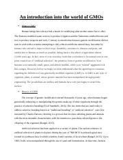 Genetic engineering essay
