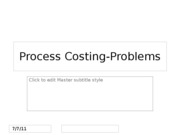 Process Costing-Problems