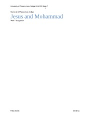 Jesus and Mohammad