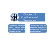 Chapter 15_Conditions and Warranties