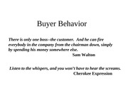 Undergraduate buyer behavior