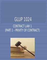 Part_7_-_Privity_of_Contract