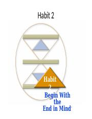 Habit 2... Begin With the End in Mind