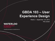 Design and User Journey - Lecture