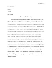 Much Ado About Something- Essay