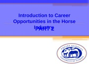Equine Industry_Part 2 STUDENT