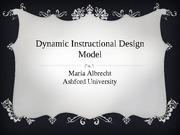 Week 2 Did Model Edu648 Dynamic Instructional Design Model Mariaalbrecht Ashforduniversity Model 1 Knowyourlearners V Know The Learners Developmental Course Hero