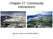 Chapter 27-Community interactions