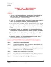 Handout #1 - 7 Question Game