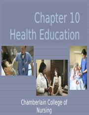 Chapter 10 Health Education_student