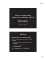 Lecture 11_Immunoinflammatory response to bacterial plaque 4.6.15