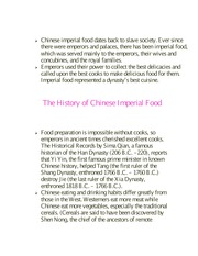 The History of Chinese Imperial Food