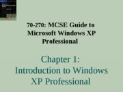 Windows Xp Professional Chapter 01