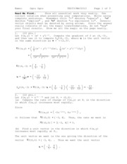 Sample Exam 3 Solution on Calculus III