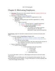 MGT 303 Study guide Ch. 6-8