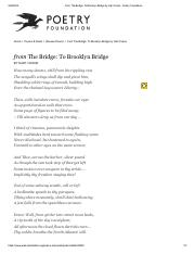 from The Bridge_ To Brooklyn Bridge by Hart Crane - Poetry Foundation