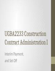 UGBA2233_CCAI_9_-_Interim_Payment_and_Set_Off